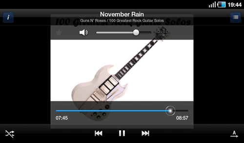 Аудио плеер Samsung Galaxy Tab. Рис. 3