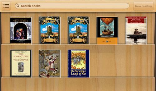 Приложение для чтения книг на Samsung Galaxy Tab