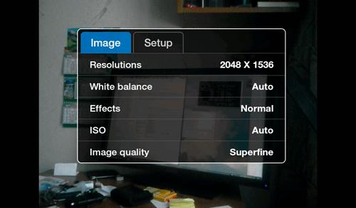 Настройки камеры Samsung Galaxy Tab. Рис. 2