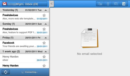Учетная запись Gmail в Samsung Galaxy Tab