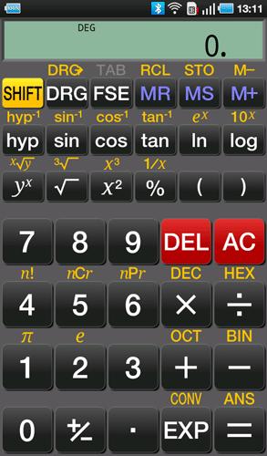 Научный калькулятор из Android Market на Samsung Galaxy Tab