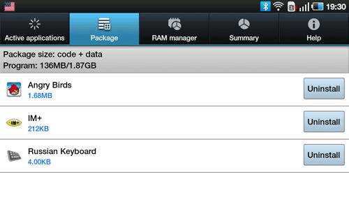 Диспетчер задач Samsung Galaxy Tab. Рис. 2