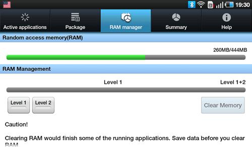Диспетчер задач Samsung Galaxy Tab. Рис. 3