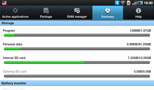 Диспетчер задач Samsung Galaxy Tab. Рис. 4