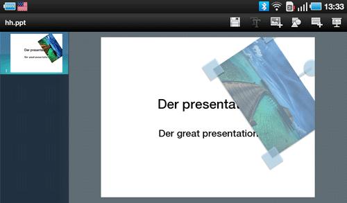 Презентации ThinkFree Office на Samsung Galaxy Tab. Рис. 2