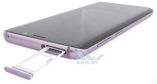 Отсек для карточек на Samsung Galaxy S9