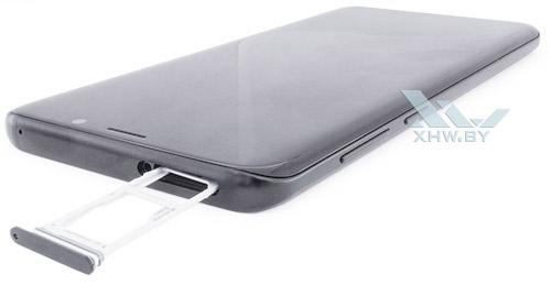 Отсек для карточек на Samsung Galaxy S9+