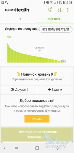 Samsung Health на Samsung Galaxy A6 (2018). Рис 2