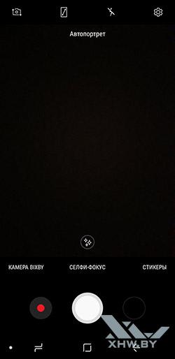 Интерфейс фронтальной камеры Samsung Galaxy A6 (2018)