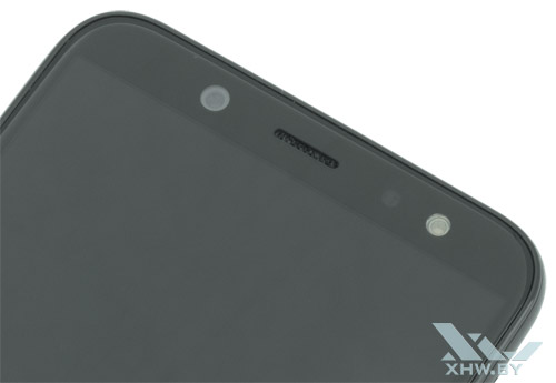 Под экраном Samsung Galaxy A6 (2018)