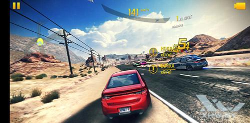 Игра Asphalt 8 на Huawei P20 Lite