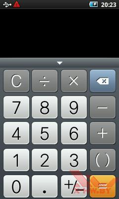 Калькулятор в Samsung Galaxy Player 50