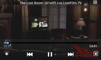 Приложение видео плеер в Samsung Galaxy Player 50. Рис. 3
