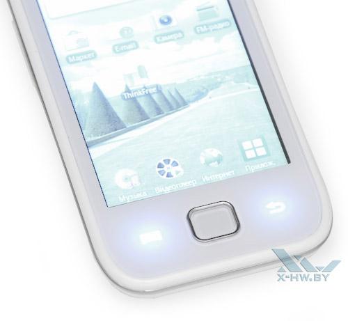 Кнопки Samsung Galaxy Player 50 с подсветкой