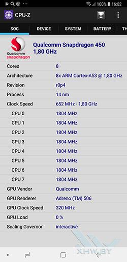Процессор Samsung Galaxy A6+ (2018)