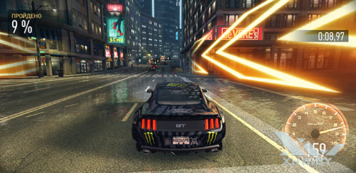 Игра Need For Speed: No Limits на Samsung Galaxy A6+ (2018)