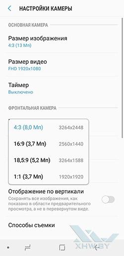 Разрешение снимков фронтальной камеры Galaxy J6 (2018)