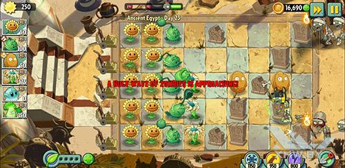 Игра Plants vs Zombies 2 на Samsung Galaxy J6 (2018)