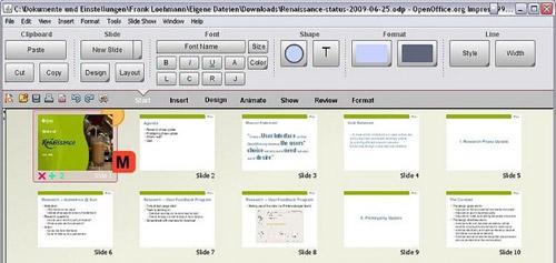 Проект интерфейса Renaissance OpenOffice.org