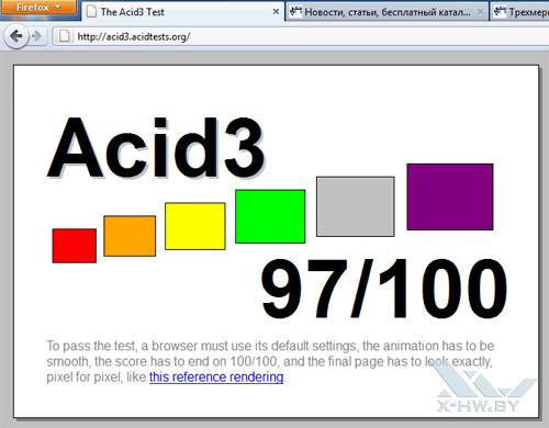 Прохождение Firefox 4 теста Acid3