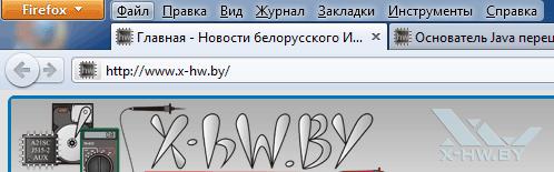Панель меню Firefox 4