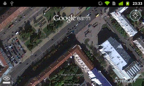 Google Earth на Google Nexus S. Рис. 3