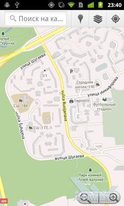 Google Maps на Google Nexus S. Рис. 1