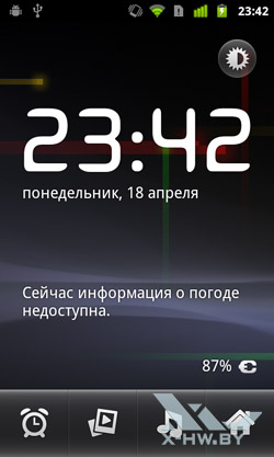 Добавление элементов на рабочий стол Google Nexus S. Рис. 4