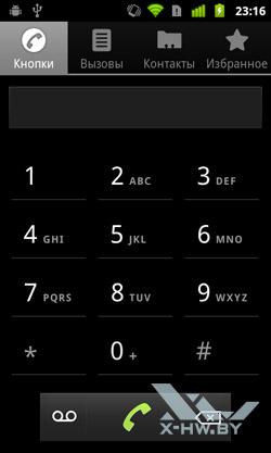 Программа для совершения звонков на Google Nexus S. Рис. 1