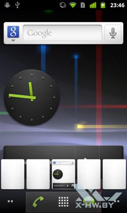Рабочий стол Google Nexus S. Рис. 3