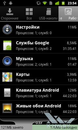 Менеджер приложений на Google Nexus S. Рис. 2