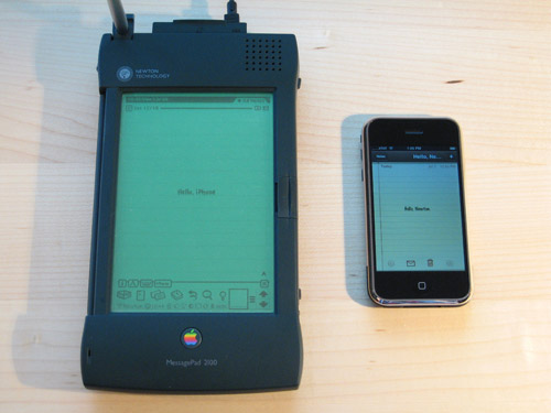 Apple Newton и Apple iPhone