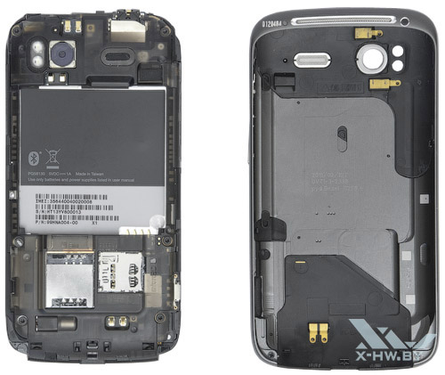 HTC Sensation со снятой крышкой