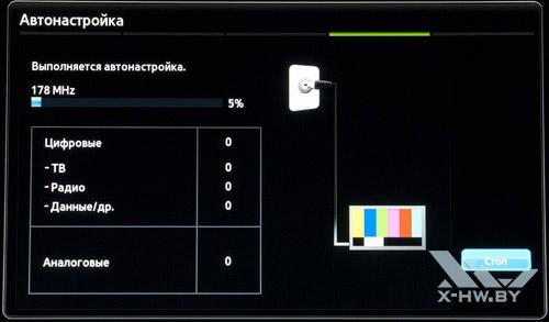 Автонастройка каналов на Samsung T23A750. Рис. 5