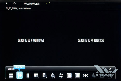 Воспроизведение видеофайла на Samsung T23A750
