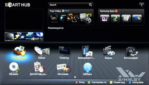 Smart Hub на Samsung T23A750