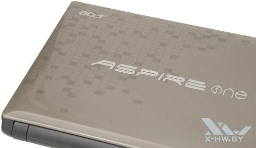 Текстура на обратной стороне крышки экрана Acer Aspire One 521
