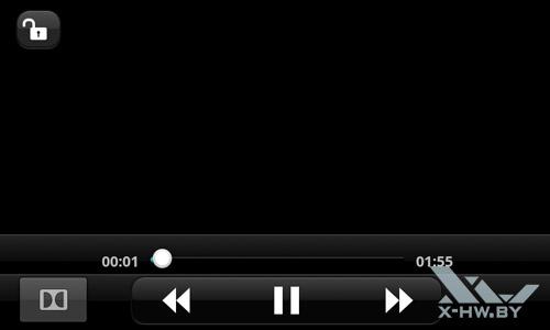 Видеопроигрыватель LG Optimus Black P970. Рис. 1