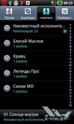 Аудио проигрыватель LG Optimus Black P970. Рис. 4