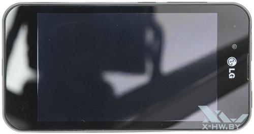 LG Optimus Black P970. Вид сверху