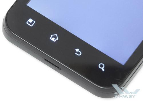 Подсвеченные кнопки LG Optimus Black P970