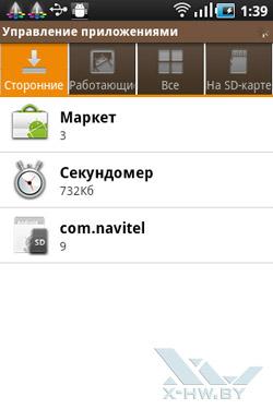 Диспетчер задач и управление приложениями на Samsung Galaxy Ace. Рис. 1