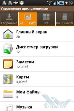 Диспетчер задач и управление приложениями на Samsung Galaxy Ace. Рис. 2