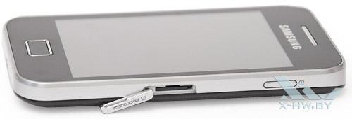 Samsung Galaxy Ace. Отсек для карты памяти microSD