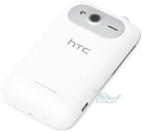 HTC Wildfire S. Вид сзади