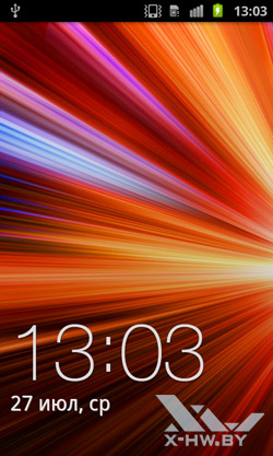 Экран блокировки Samsung Galaxy S II