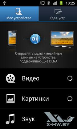 AllShare на Samsung Galaxy S II