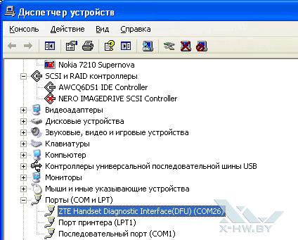 ZTE V9 в диспетчере задач