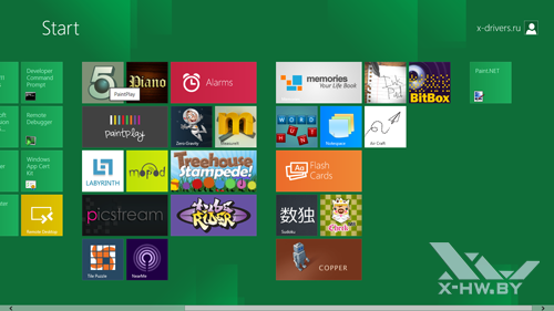 Приложения в стартовом экране Metro в Windows Developer Preview