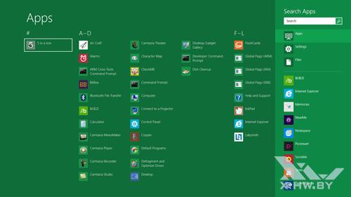 Поиск приложений в Windows Developer Preview